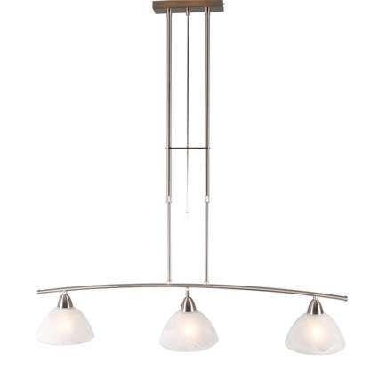 Suspension-Firenze-3-lumières-Murano-en-acier