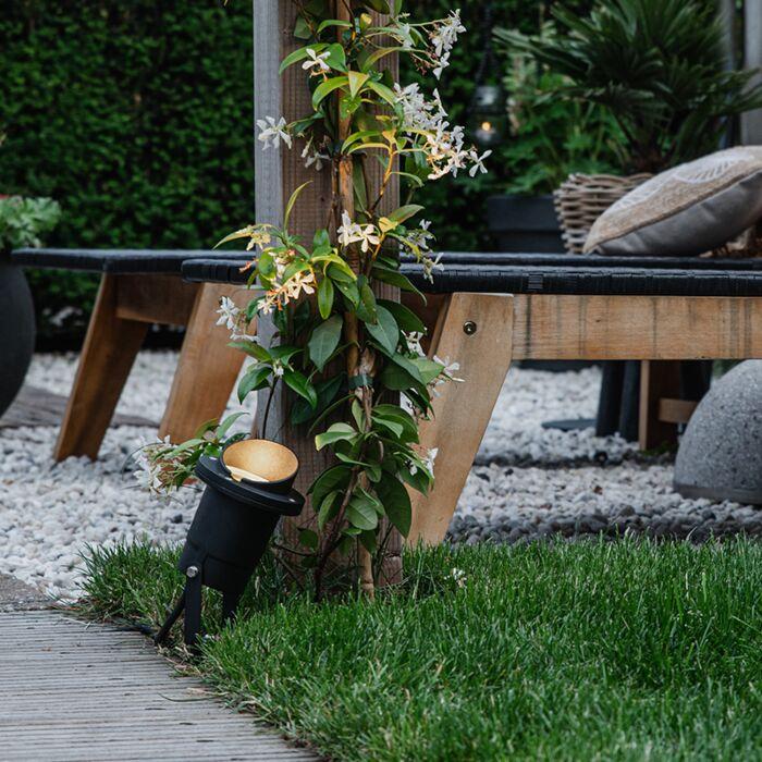 Spot-de-jardin-noir-avec-cordon-et-fiche-IP65---Done