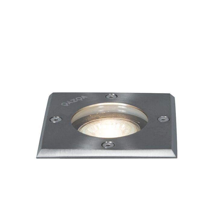 Spot-de-sol-acier-10,5-cm-IP65---Basic-Square