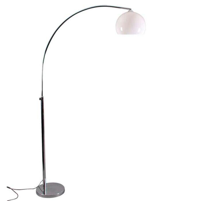 Lampadaire-en-acier-et-abat-jour-blanc-190cm