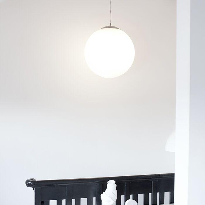 Suspension-scandinave-verre-opale-50cm---Ball-50