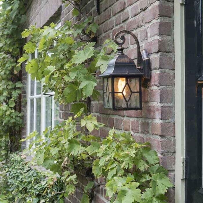 Applique-d'extérieur-romantique-bronze---Londres