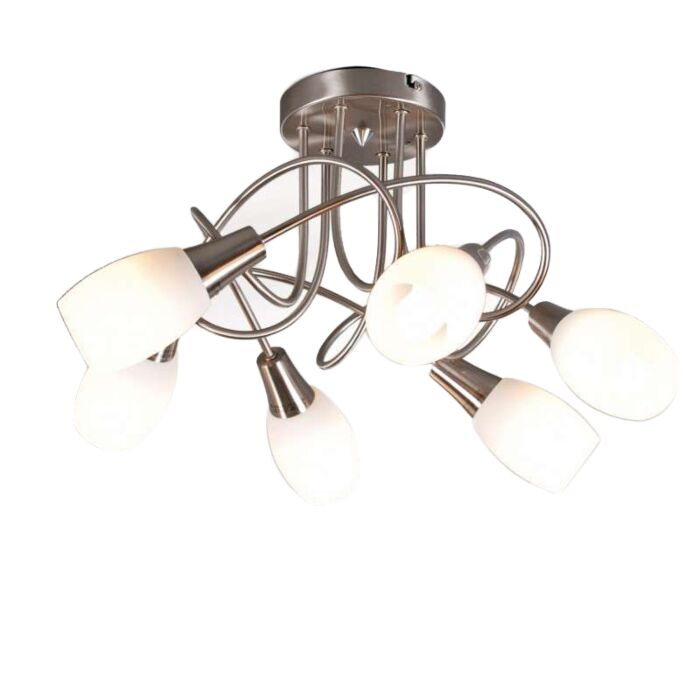 Plafonnier-Andrea-6-lumières-acier