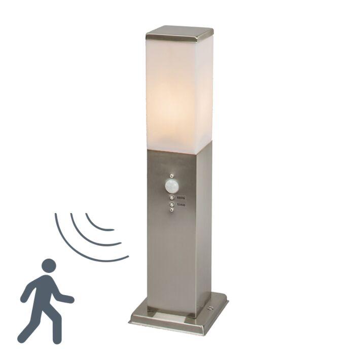 Balise-extérieure-en-acier-Malios-45-cm-à-détecteur-de-mouvements-IR