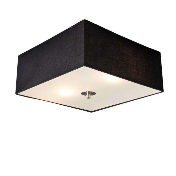 Plafonnier-Drum-carré-35cm-noir