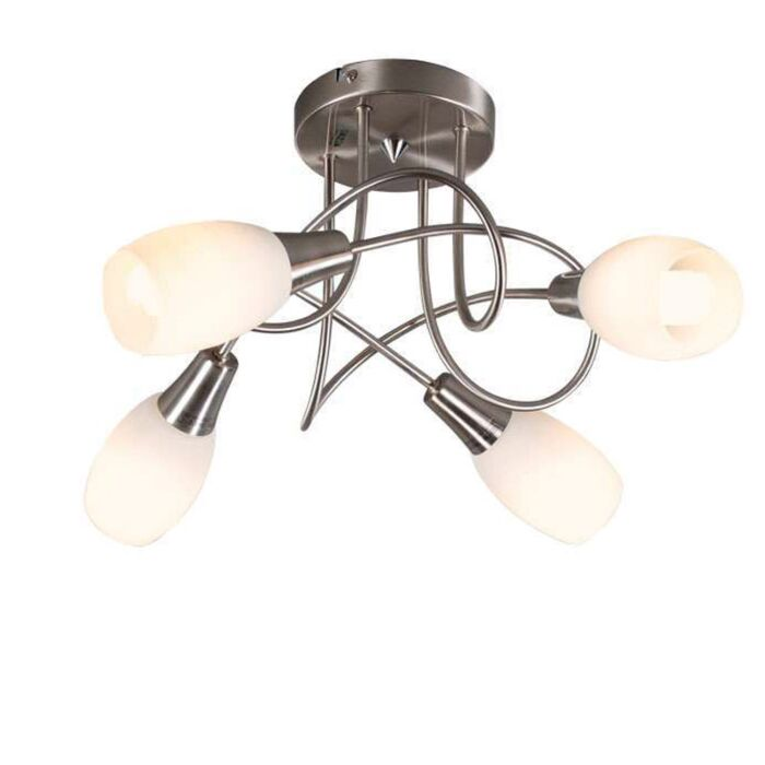 Plafonnier-Andrea-4-lumières-acier