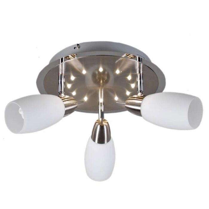 Plafonnier-Atom-3-spots-et-LED-28-cm-rond