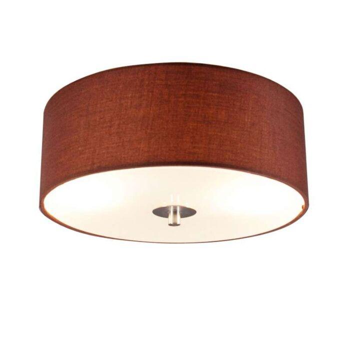 Plafonnier-Drum-rond-30cm-marron