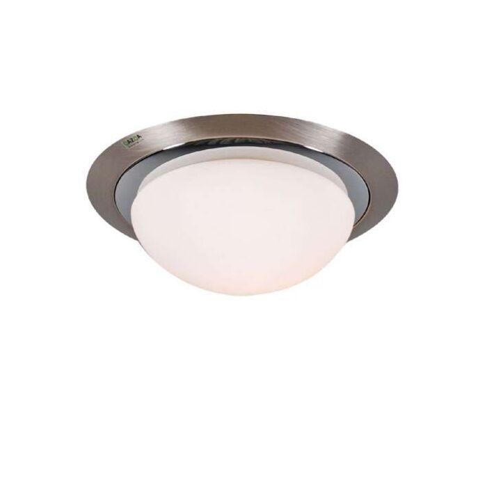 Plafonnier-Barney-22-lumières-acier/chrome