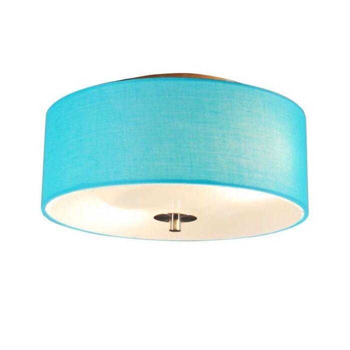 Plafonnier-Drum-rond-30cm-bleu-ciel