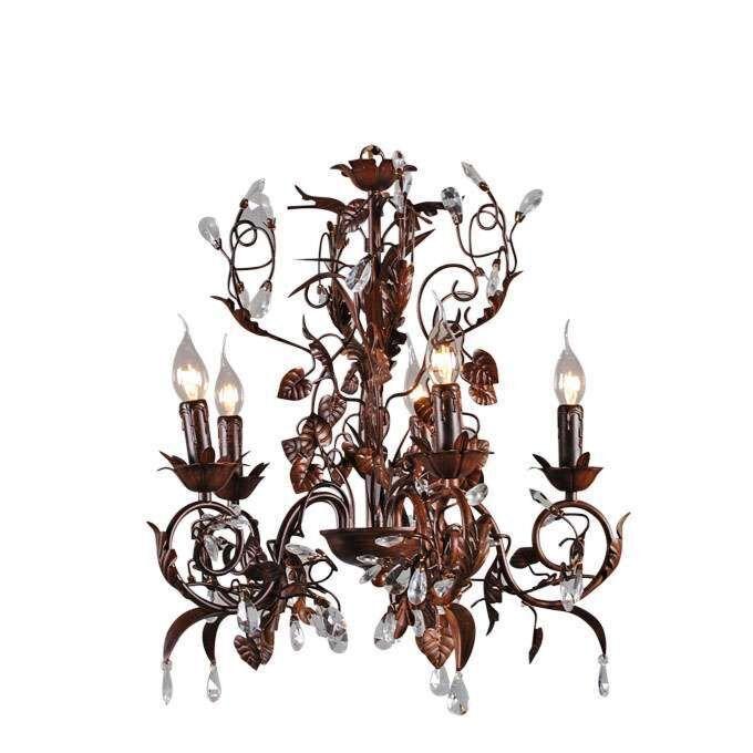 Lustre-Romance-5-lumières-antique
