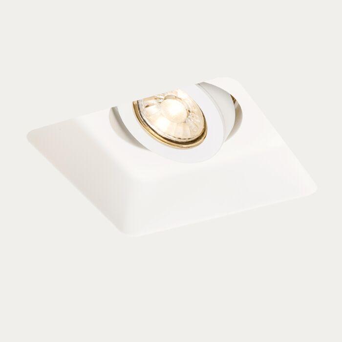 Spot-à-encastrer-carré-Gipsy-Zero-Q-I-GU10-blanc