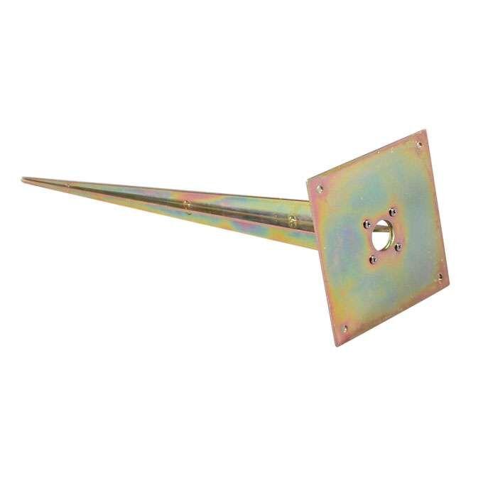 Piquet-de-terre-carré-galvanisé-à-chaud