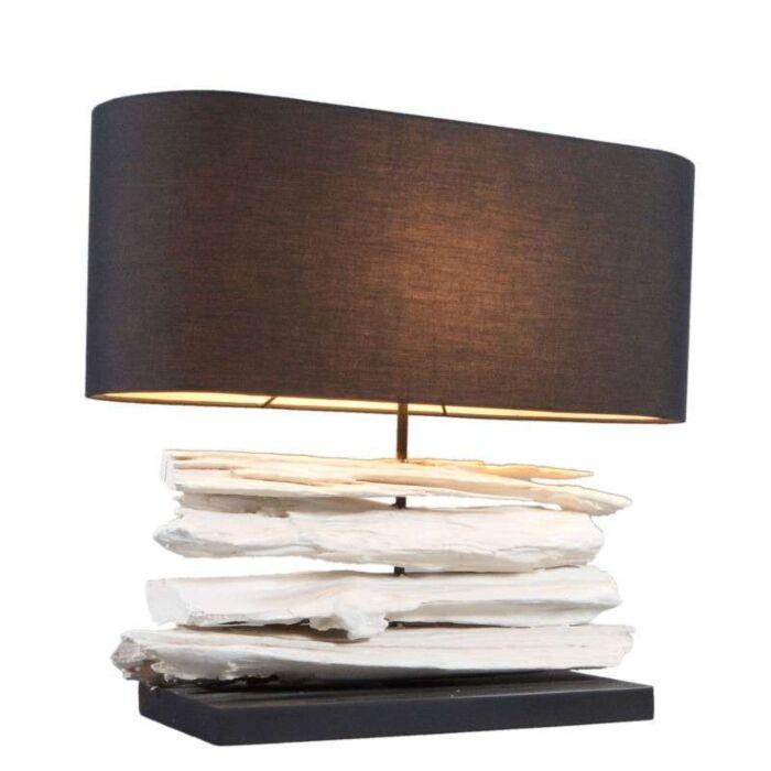 Lampe-de-table-Satun-50-cm-blanc-abat-jour-noir