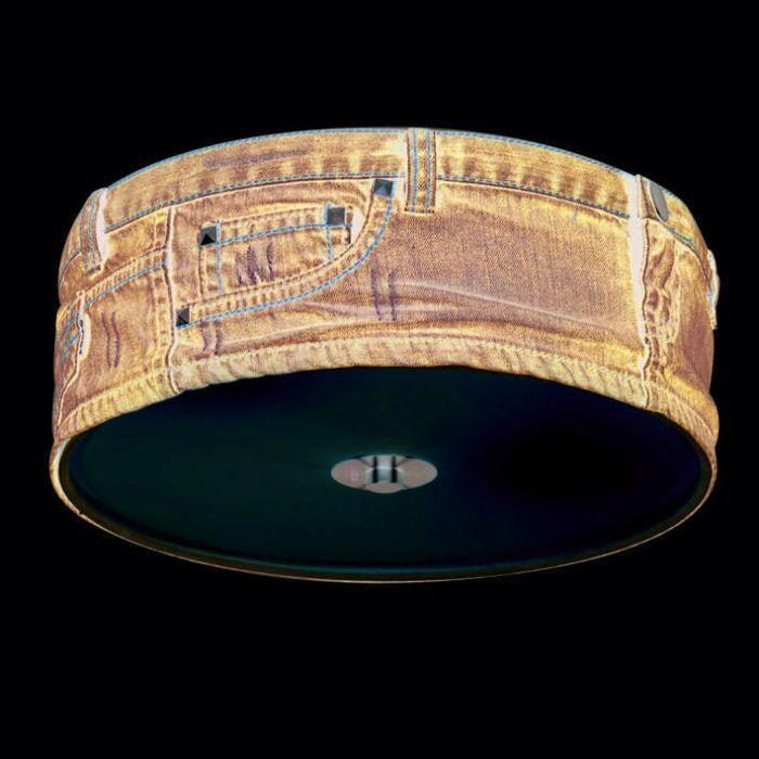 Plafonnier-Drum-30cm-Jeans