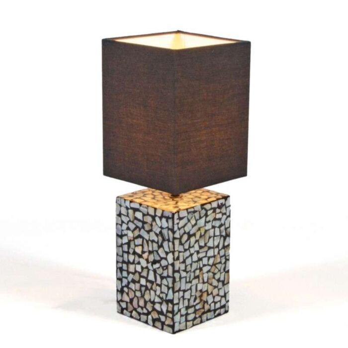 Lampe-de-table-Pearl-42-cm-abat-jour-marron