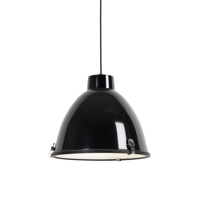 Lampe-suspendue-industrielle-noir-38-cm-dimmable---Anteros
