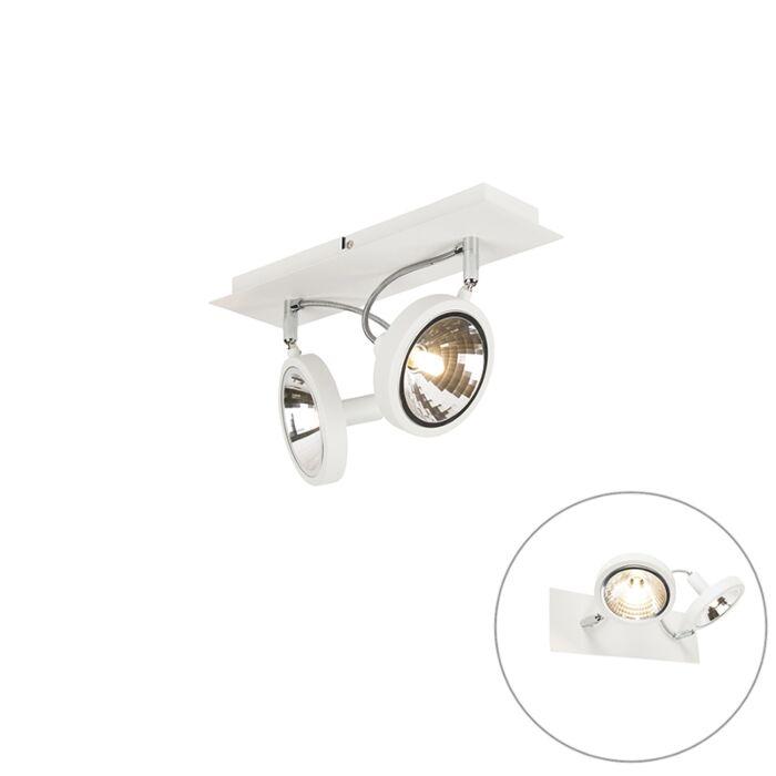 Spot-design-blanc-2-lumières-réglable---Nox