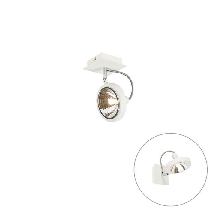 Spot-design-blanc-1-lumière-réglable---Nox