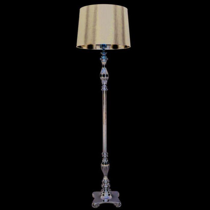 Lampadaire-Paris-150-cm-chrome-abat-jour-noir
