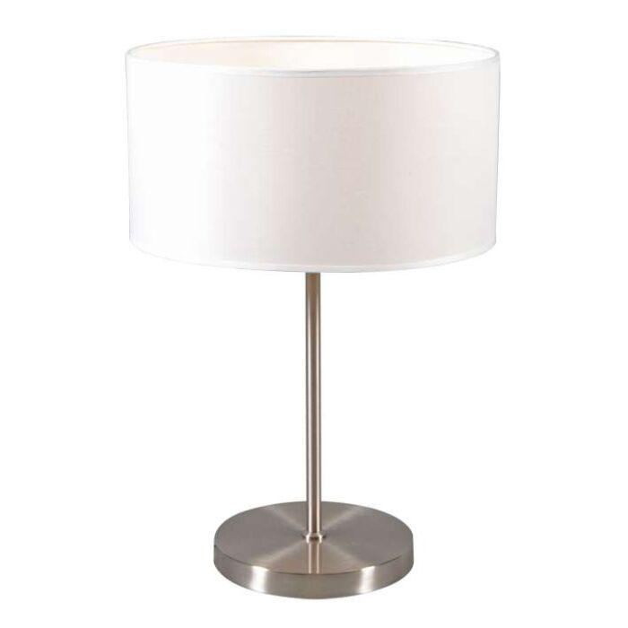 Lampe-de-table-Lugar-abat-jour-blanc