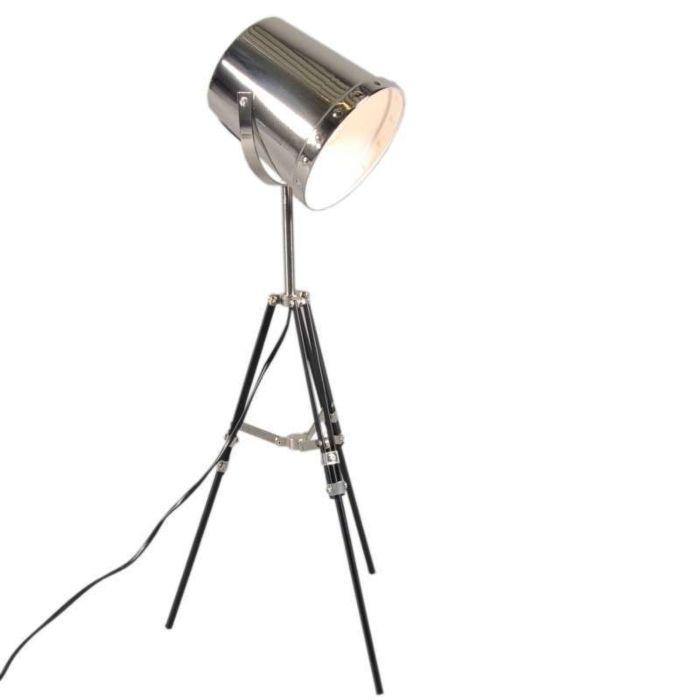 Lampe-de-table-Benna-trépied-noir-chrome