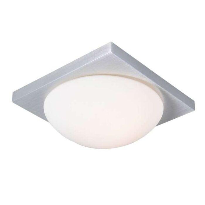 Plafonnier-Menta-25-cm-carré-aluminium