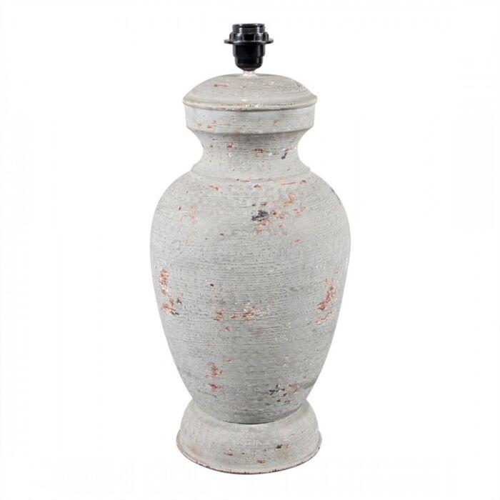 Lampe-de-table-pied-Barun-50-cm-gris-patiné-sans-abat-jour