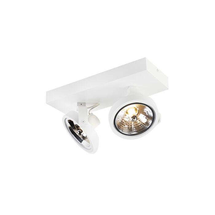 Projecteur-design-blanc-réglable-à-2-lumières-avec-LED---Go