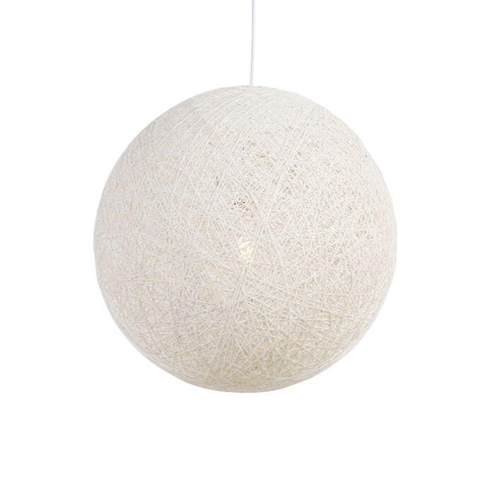 Lampe-à-suspension-Country-blanche-60-cm---Corda