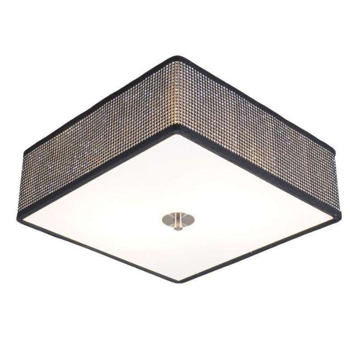 Plafonnier-Drum-35cm-carré-diamant
