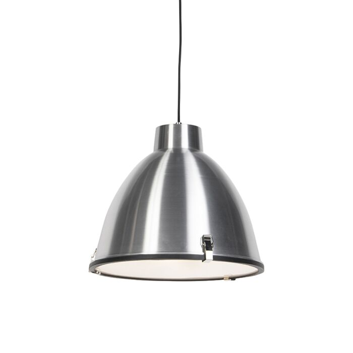Lampe-à-suspension-industrielle-aluminium-38-cm-dimmable---Anteros