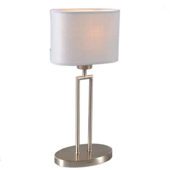 Lampe-de-table-Zadar-acier-abat-jour-gris