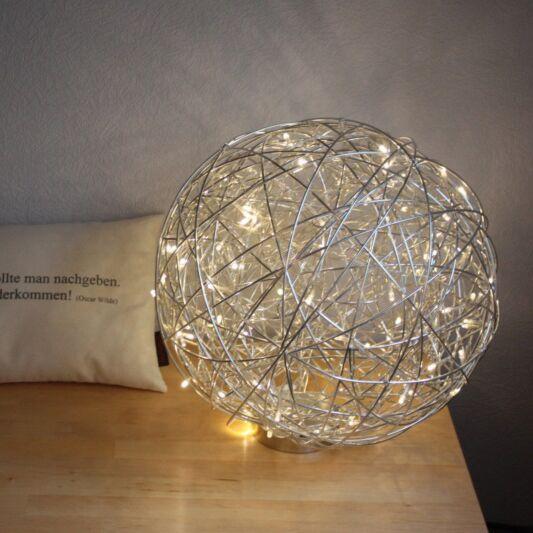 Lampe-de-sol-sphère-Draht-40-cm-LED-aluminium