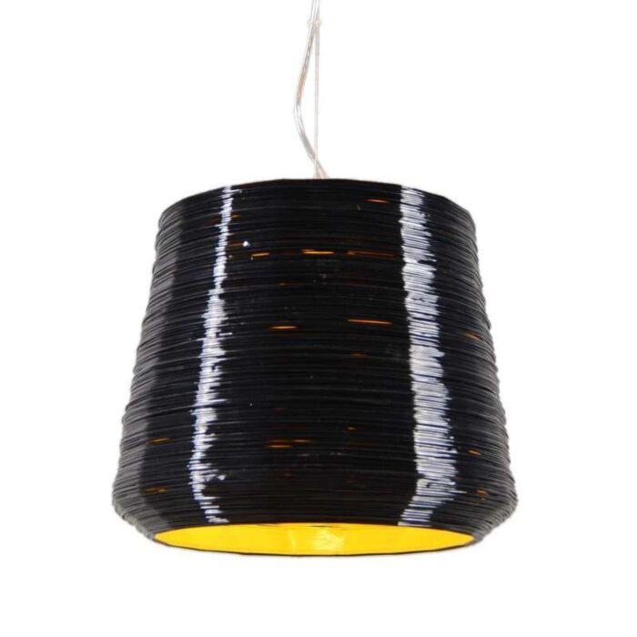 Suspension-Como-38-cm-noir-jaune