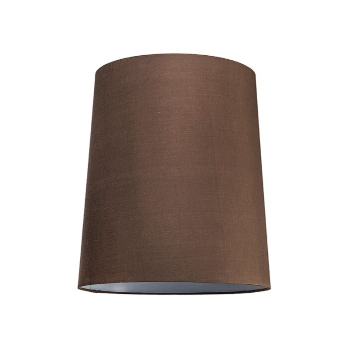 Abat-jour-35cm-rond-SU-E27-brun