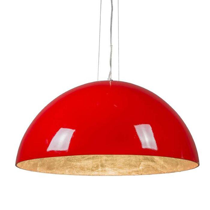 Suspension-Magna-Glossy-70cm-rouge-et-argenté