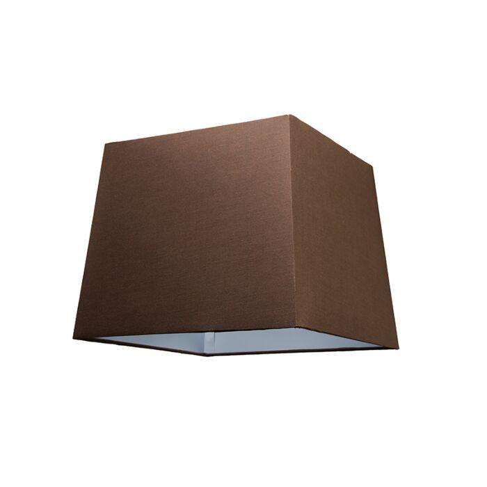 Abat-jour-30cm-carré-SU-E27-brun