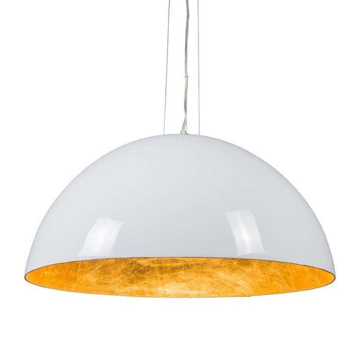 Suspension-Magna-Glossy-70cm-blanc-et-doré