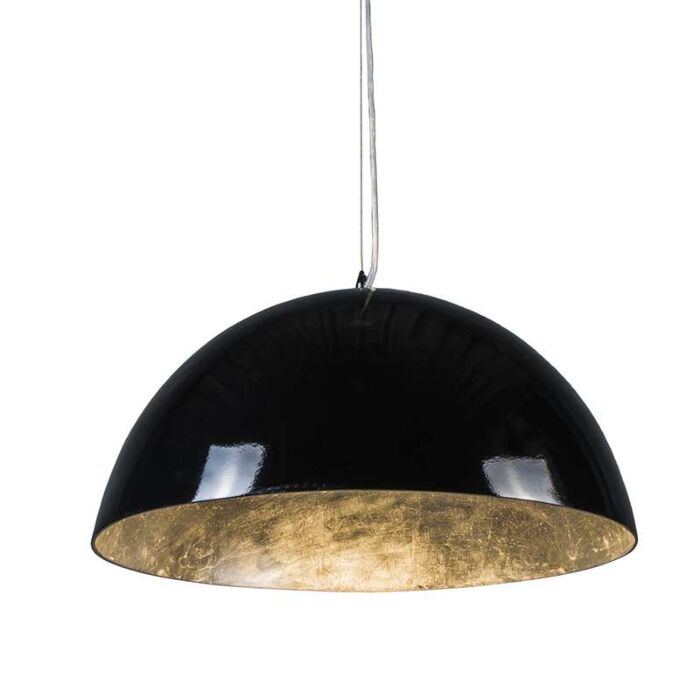 Suspension-Magna-Glossy-55cm-noir-et-argenté