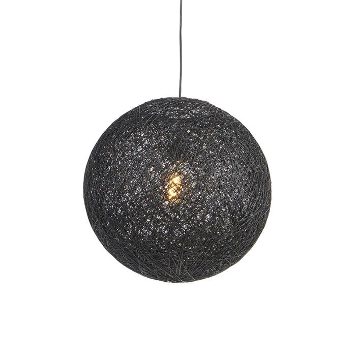 Lampe-à-suspension-noire-45-cm---Corda