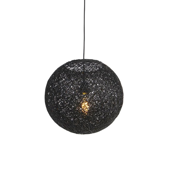 Lampe-à-suspension-noire-35-cm---Corda