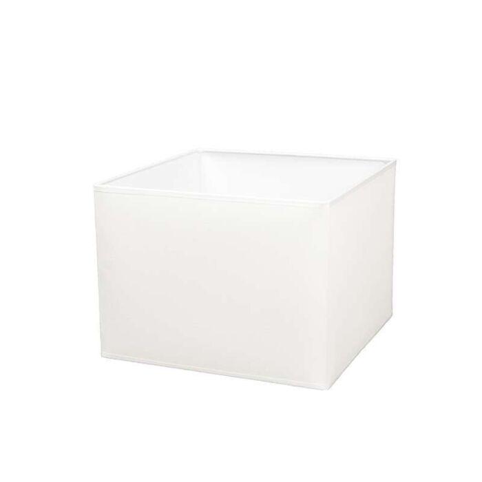 Abat-jour-carré-30/30/22-crème-et-blanc-E27