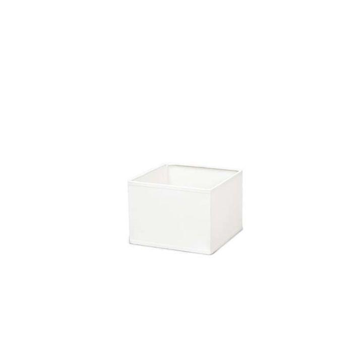 Abat-jour-carré-17/17/12-crème-blanche-E14