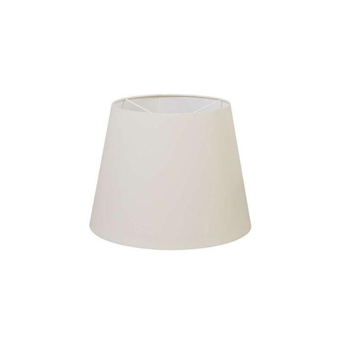 Abat-jour-en-polyester-blanc-crème-35-/-27,5