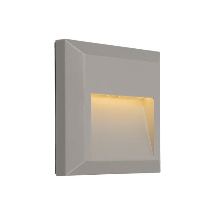 Applique-moderne-gris-clair-LED-incl.---Gem-2
