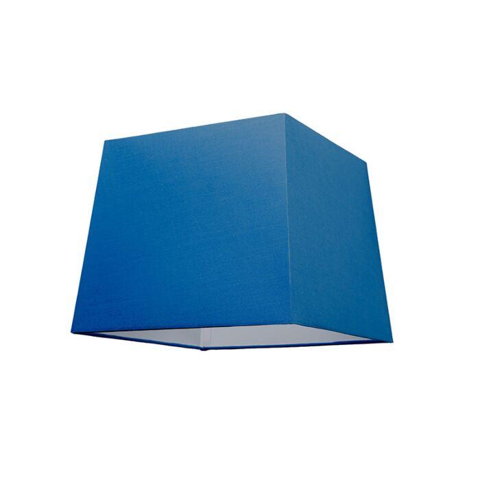 Abat-jour-30cm-carré-SU-E27-bleu