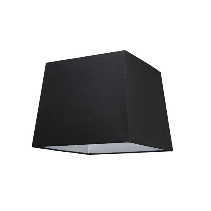 Abat-jour-30cm-carré-SU-E27-noir