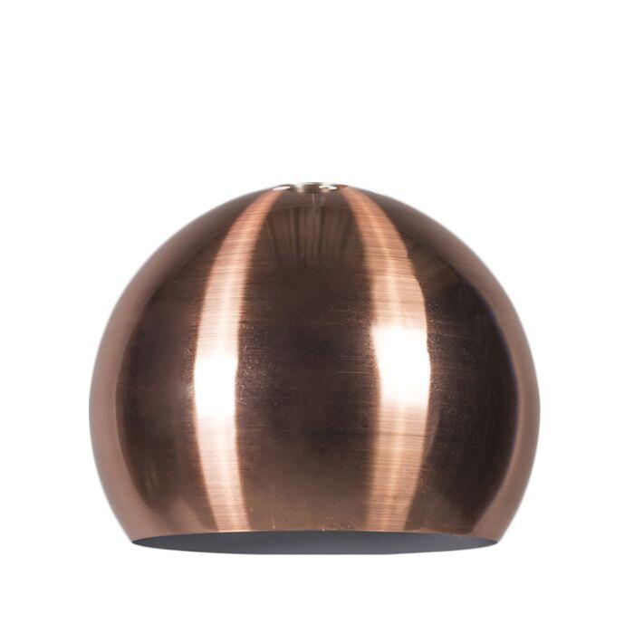 Abat-jour-Globe-28cm-cuivre-mat