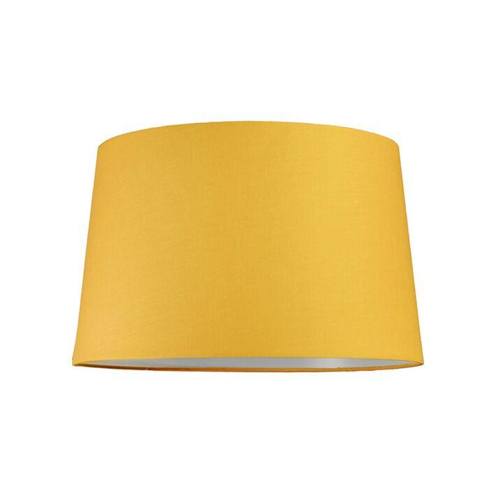Abat-jour-40cm-rond-SU-E27-jaune